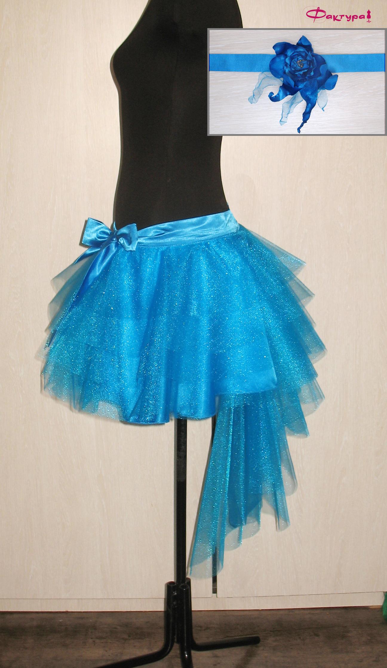 Как сшить юбку-пачку со шлейфом из сетки фатина MK-costumier 65