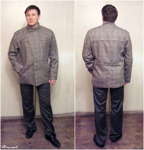 ...карманами в швах с листочками и с широкими патами на рукавах!