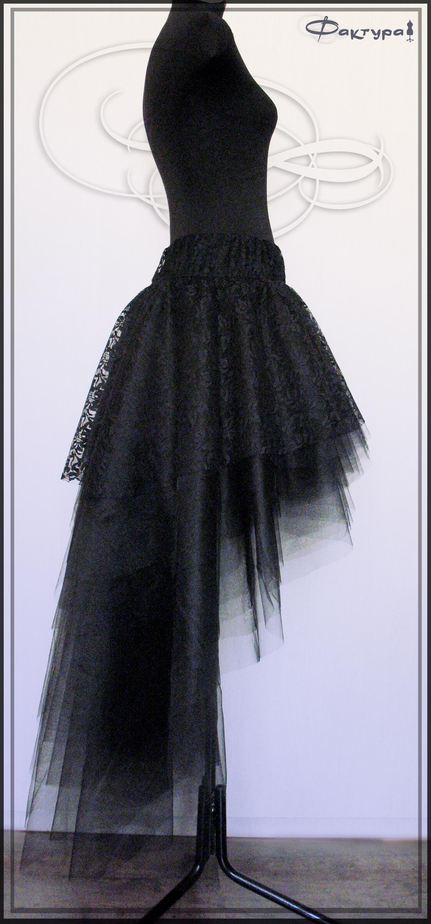 Длинные юбки из фатина фото